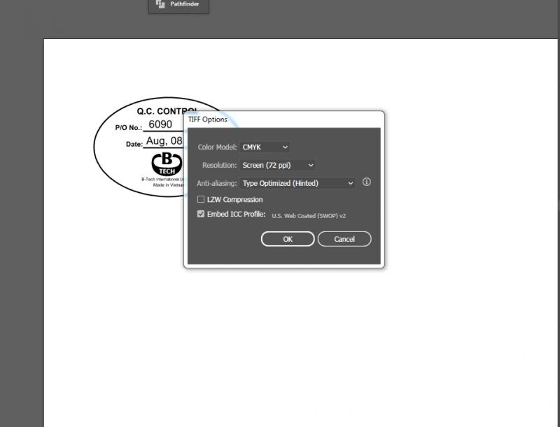 Chọn chất lượng khi gửi file in bạt